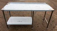 Commercial steel table