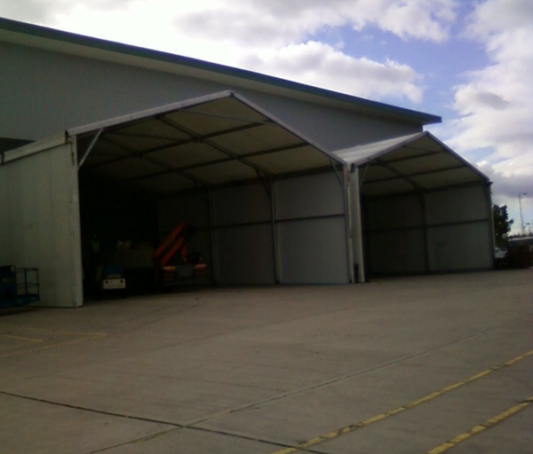 Framed warehouse marquees for sale