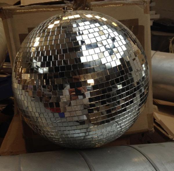 Silver mirror balls