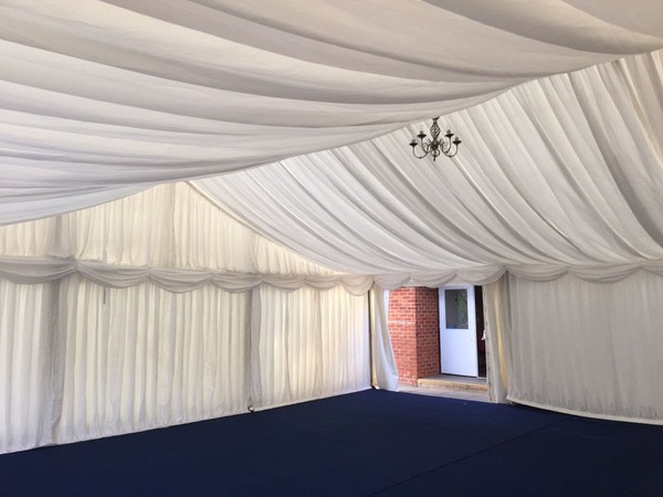marquee with lining