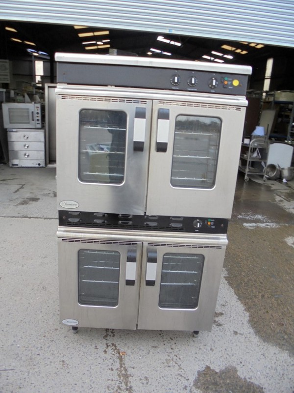 Used Moorwood Vulcan MC2T 90GCO Stainless Steel Double Oven / Electric Gas Catering Convection (6138)