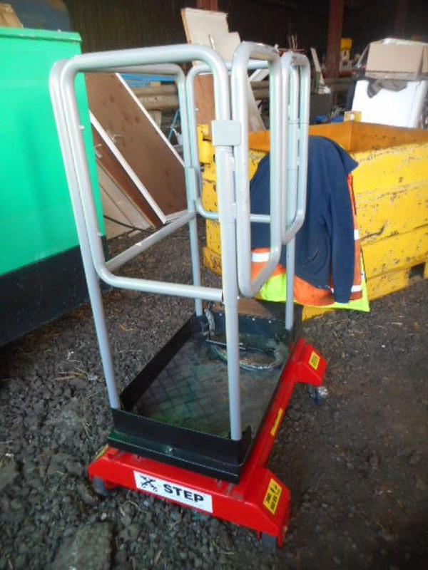 Used bison step access lift