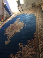 Blue and Gold Kandsher Rug
