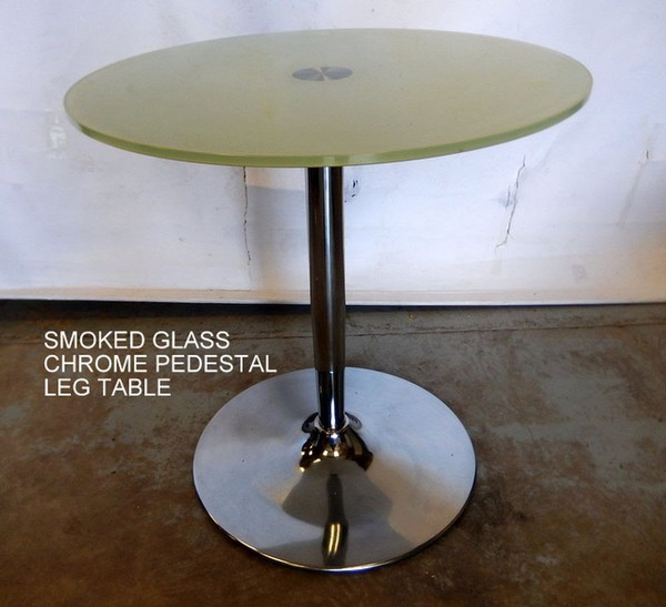 Smoked glass tables for sale
