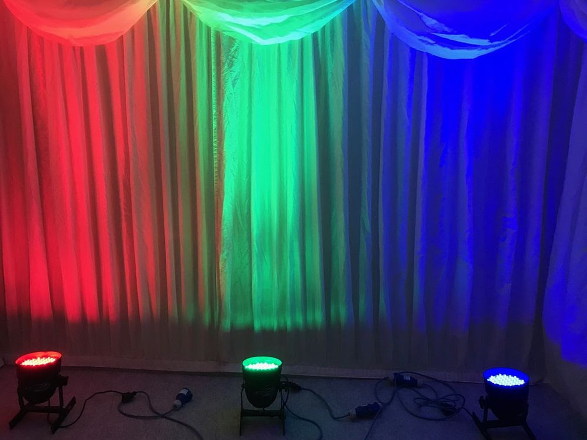 curlew secondhand marquees marquee up lighters 10x powerful rgb led stage lighting ascot. Black Bedroom Furniture Sets. Home Design Ideas