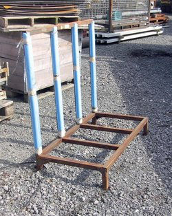 Glass Carrying Rack , Steel Stillage / Forklift Handling Rack