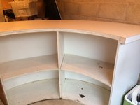 Curved wooden bar