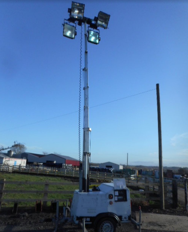 Secondhand lighting tower