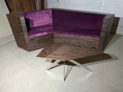 Unique Corner Seating Unit in Zebrano laminate