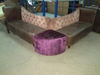Pair of Chaise Longue Style Sofas