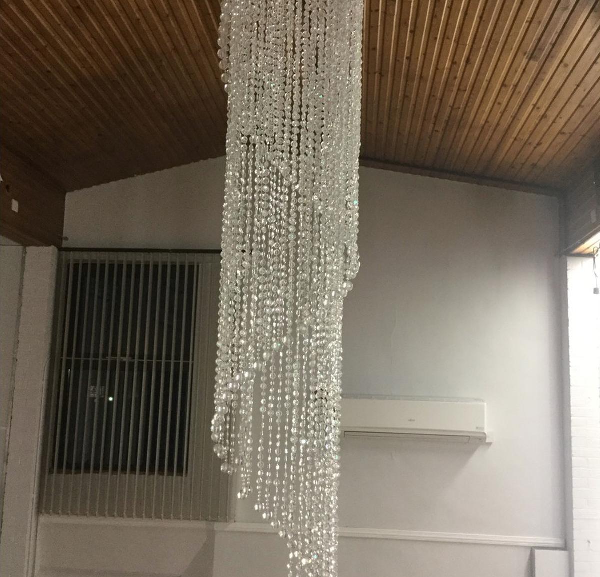 Secondhand prop shop venue decoration glass droplets chandelier secondhand glass chandeliers for sale aloadofball Choice Image