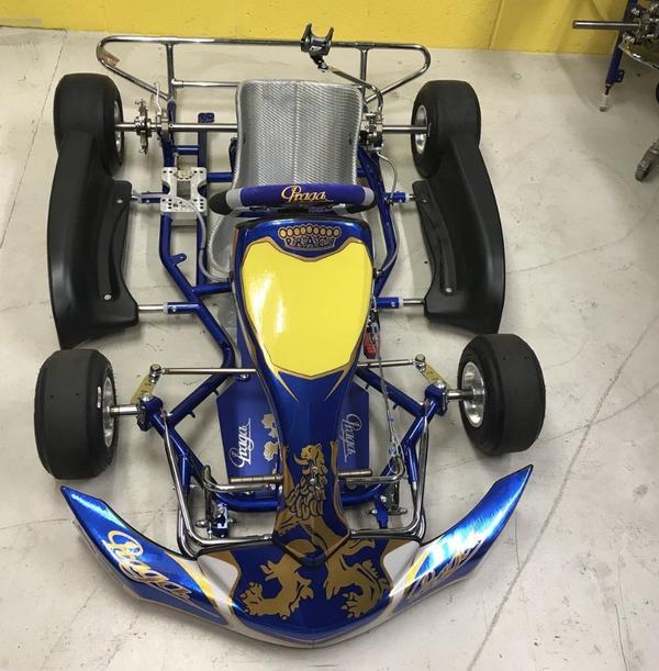 Praga cadet go kart rolling chassis
