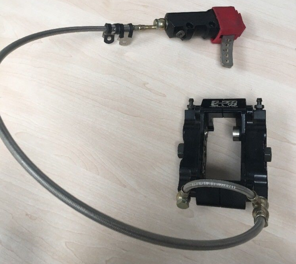 Go kart twin piston braking system