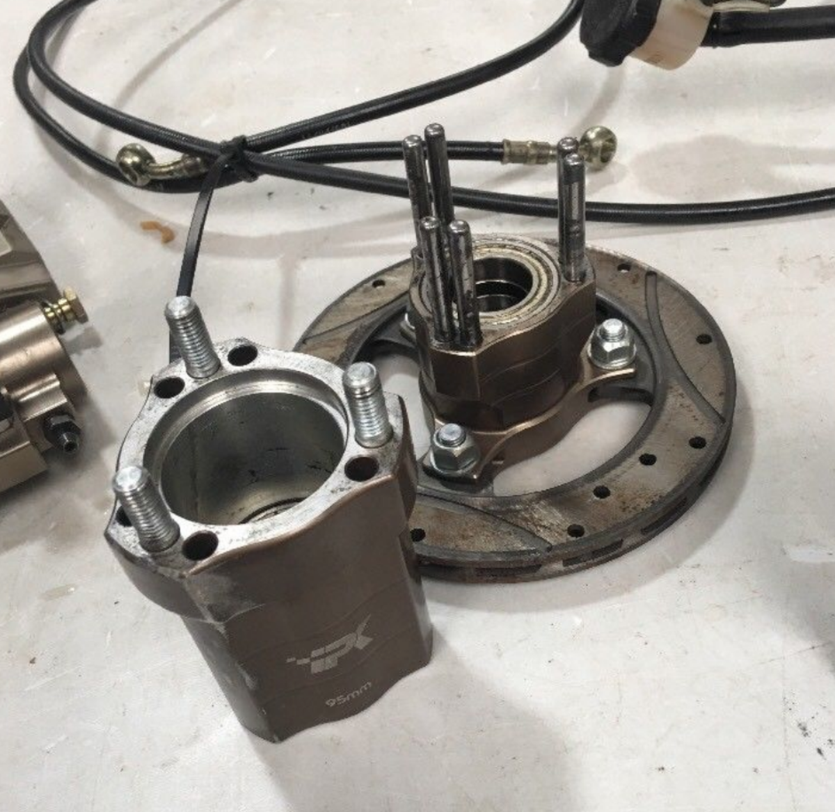 secondhand kartingcouk kart brakes ipk  kart mm front braking system complete