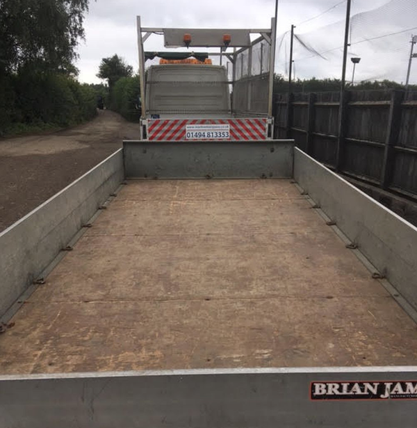Used brian james double axle trailer