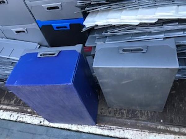 Corex Boxes for Storage of Glassware