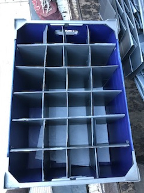 Secondhand Corex Boxes for Storage of Glasses