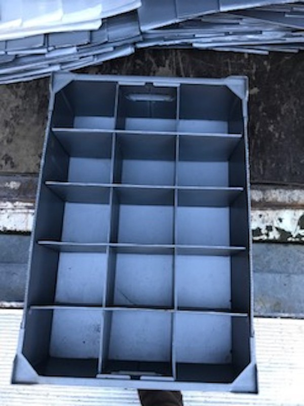 Used Corex Boxes for Storage of Glasses