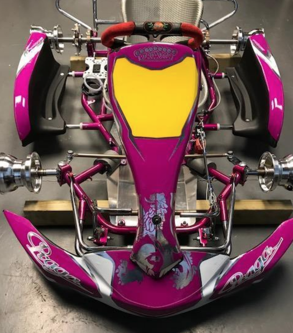 Brand new pink praga custom cadet go kart