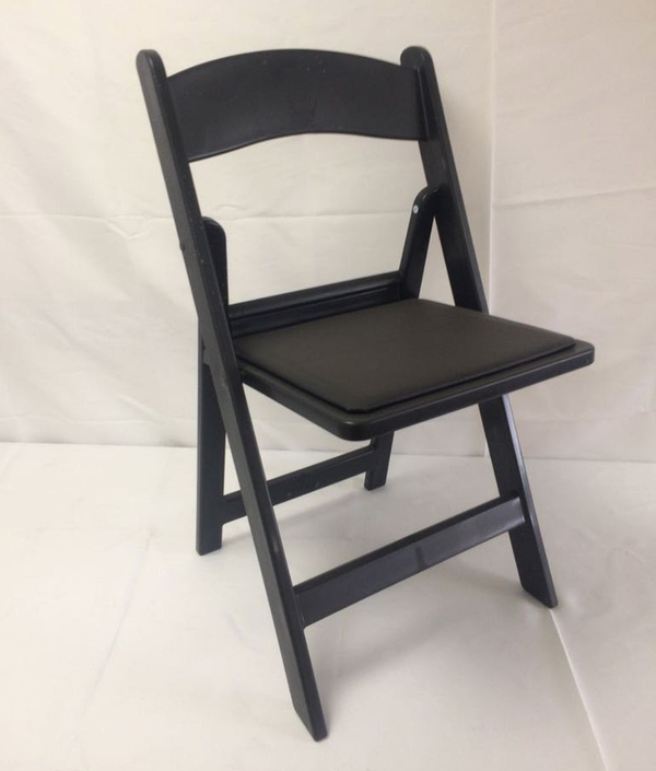 Black resin folding chairs