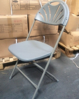 Fanback folding chair