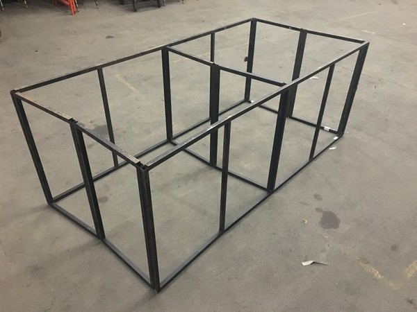 High metal stage frame