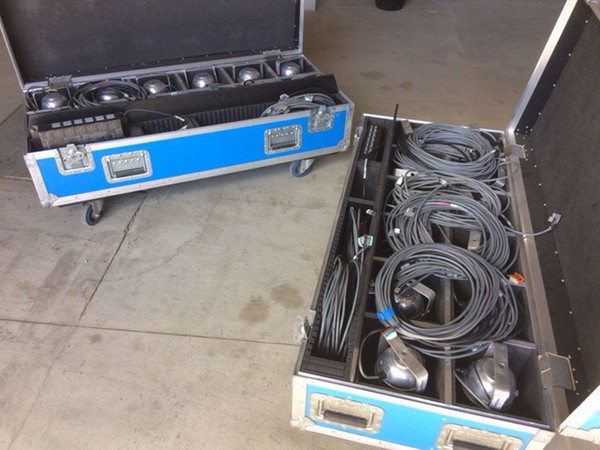 Lighting with flight case for sale