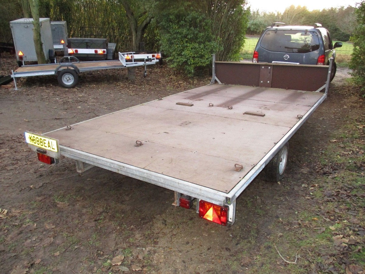 secondhand trailers flat bed trailers very rare de graaff galvanised braked 14 x 7 6 flatbed. Black Bedroom Furniture Sets. Home Design Ideas