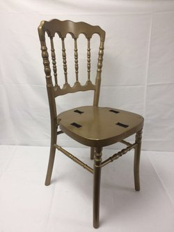 gold wooden banqueting chairs