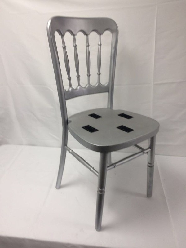silver wooden banqueting chairs