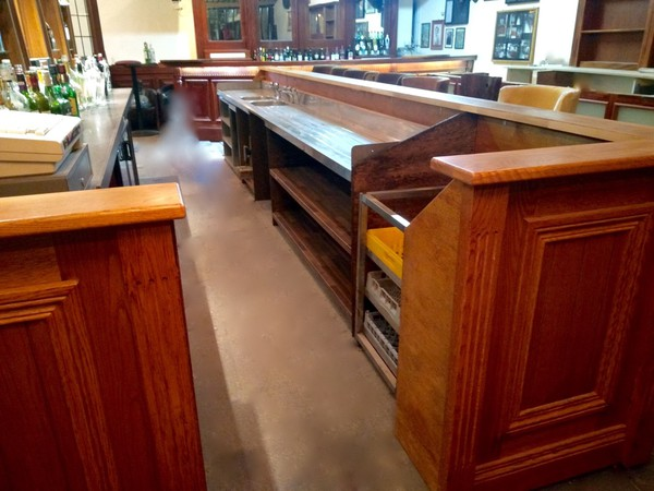 Reconditioned Oak Bar Front and Back Fitting