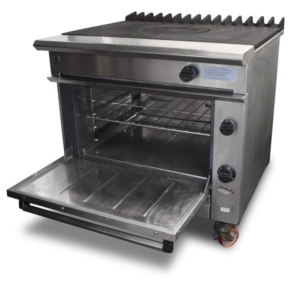 Gas solid top oven