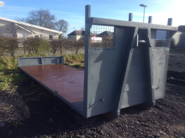 Large flatbed trailer body