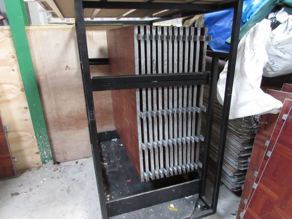 Dancefloor panels and trolley