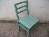 Dark green chairs