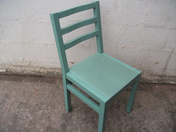 Dark green chairs