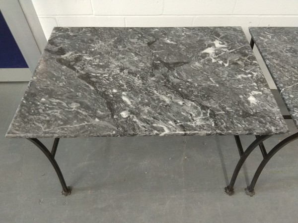 Rectangular granite tables