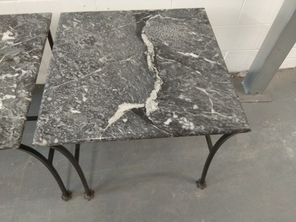 Square marble tables