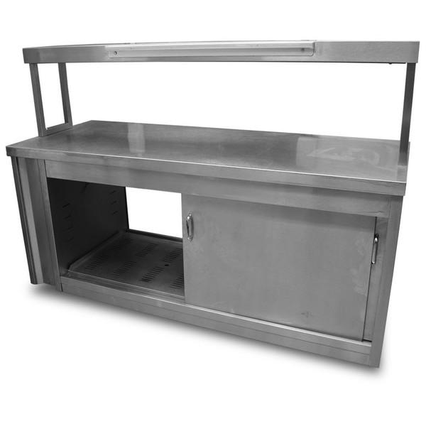 Hot cupboard gantry shelf unit