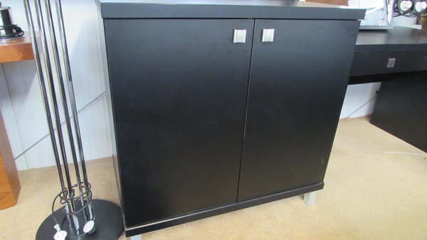 Black cupboards