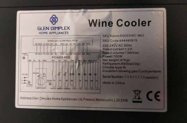 6 Tray wine cooler