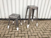126x Seconds Brand New Tolix Xavier Pauchard Matt Welded Stools and Chairs - Hertfordshire