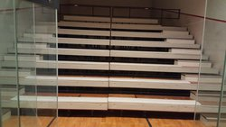 Retractable Venue 'Bleacher' Style Seating with Upholstered Benches