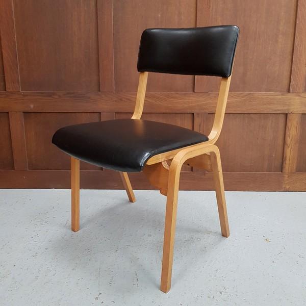 English Black vinyl chairs