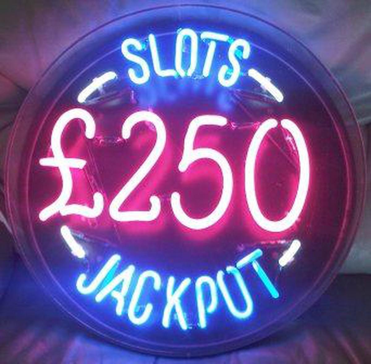 Secondhand Prop Shop Casino Enclosed Neon Sign Sussex