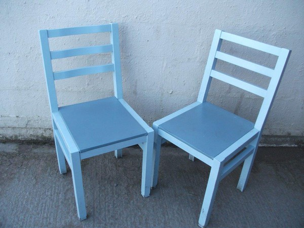 Shabby grey chairs for sale