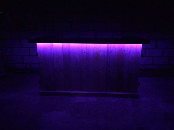 LED lit mobile bar