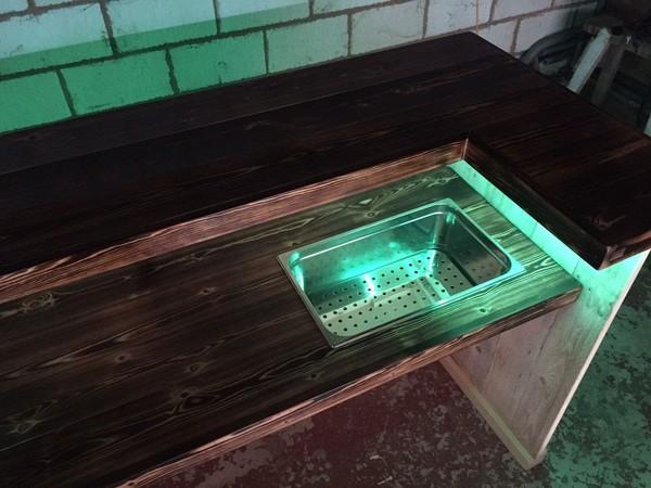 Mobile wood bar