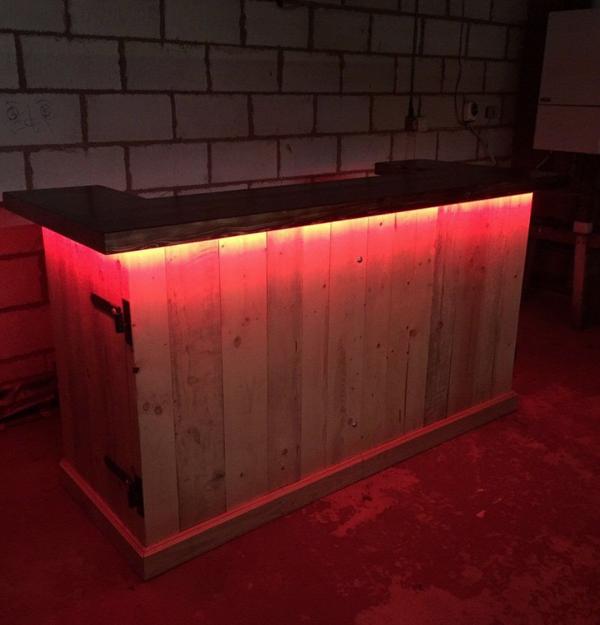 Rustic mobile wood bar