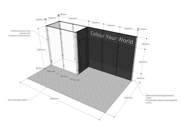 Large Exhibition Professional Trade Show Stand
